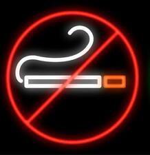 "No Smoking Neon Light Sign 24""x24"" Beer Bar Decor Lamp Glass"