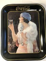 Vintage 1973 Remake Of 1923 Coca-Cola Flapper Girl Serving Tray Coke Antique