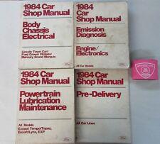 1984 FORD CROWN VICTORIA LINCOLN TOWN CAR GRAND MARQUIS SERVICE SHOP MANUAL SET