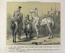 Pferdehändler Ulan Ulanka Lanze Kurtka Satire Karikatur Schimmel Revolution 1848