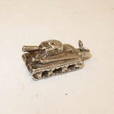 VINTAGE Silver TANK Bracelet CHARM Military WW2 US Army Gun War Estate VT30S
