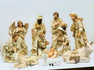11 Piece Christmas Nativity Scene Set, 320mm,Resin