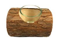 Portacandele in corteccia forma di tronco con vasetto vetro per candele 306067