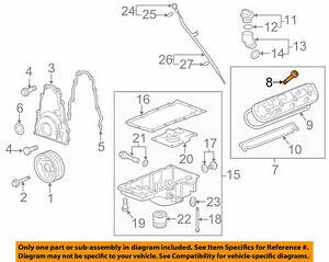 ( 1 ) GENUINE GM 12577215 Valve Cover Bolt W/Grommet Fits 1999-2020 LS Engines