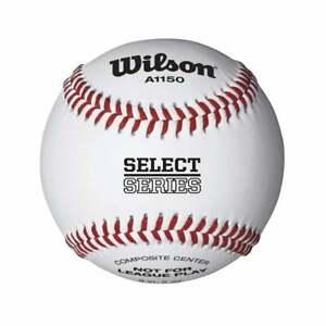 Wilson A1150T Youth Recreational Baseballs 3 Pack