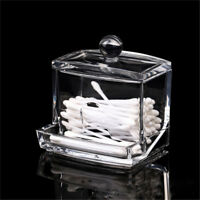 New Clear Acrylic Cotton Swab Q-tip Storage Holder Box Cosmetic Makeup Organizer