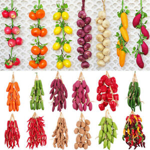Hanging Artificial String Vegetables Fake Rope Fish Simulation Carrot De Home UK