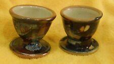Edinbane Pottery 'Ebb & Flow' Set of 2 Egg Cups Skye Scotland