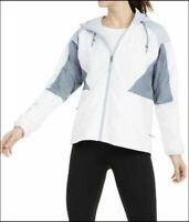COLUMBIA Side Hill lined hooded colorblock women's rain wind jacket -Grey-SMALL