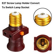 E27 Screw Base Light Bulb Holder Convert To With Switch Lamp Socket 110V-220V