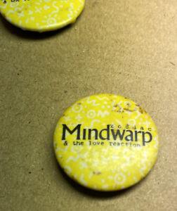 Zodiac Mindwarp Rock Badge 1980s Original Red Moon
