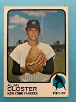 1973 Topps Alan Closter Card #634 New York Yankees