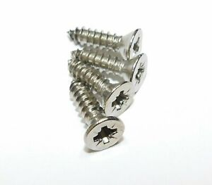 POZI COUNTERSUNK SELF TAPPING SCREWS A2 STAINLESS STEEL TAPPERS No 4, 6, 7, 8,10