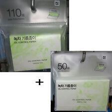 Oil Control Paper Green Tea 2 size 160 pcs Absorbing Tissue Face Blotting Korea