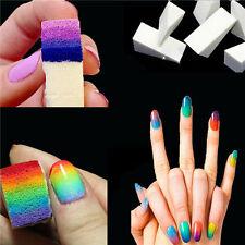 New 8pcs Woman Salon Sponges Acrylic UV Gel Manicure Nail Art Gardient Accessory