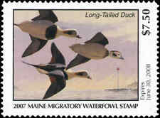 MAINE #24 2007 STATE DUCK STAMP LONG TAILED DUCK  by Rick Alley