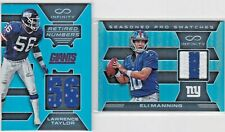 LOT L Taylor / Eli Manning NY Giants Panini Infinity Game-Used Jersey Patch /88