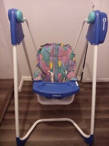 Vintage Graco open top baby swing Easy Entry 2 Speed Vintage Colors