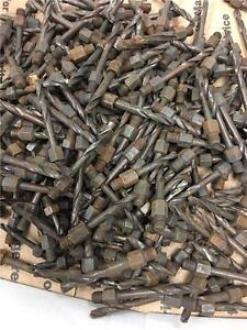 """100pc Aircraft Drill Bit 1/4""""-28 Male Threaded 5/32"""" 3/16"""" 11/64"""" 9/64""""  Mix Lot"""