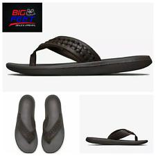 "Size 14 Nike Men's Kepa Kai ""Leather Brown""Thong  Sandal Flip Flop BV9224 200"