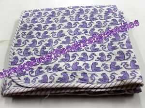 44'' Baby wrap Cotton Kantha Baby Quilt Monkey Printed Fabric Throw Design New S