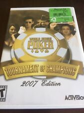 World Series Of Poker Tournement Of Champions 2007 Nintendo Wii Used