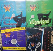 4 KARAOKE CDG SET SAK SUGARLAND/CARRIE UNDERWOOD/JOURNEY/MICHAEL BUBLE CD MUSIC