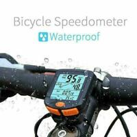 ABS Wireless Bike Cycling Bicycle Cycle Computer Odometer Speedometer Backl H3I5
