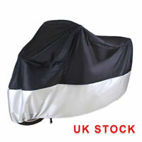 M Large Motorcycle Waterproof Outdoor Motorbike Rain Bike Cover Black