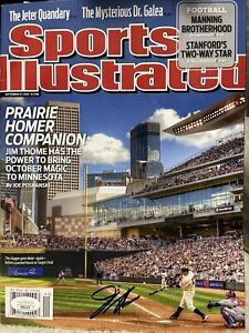 Jim Thome Autographed Signed Sports Illustrated MLB HOF Twins JSA AUTHENTICATED