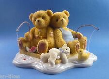 """Cherished Teddies Owen & Jared """"when Shool is out they go fishing"""" 2002 #1824"""