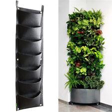 102*30cm Vertical Garden Planter Wall-mounted Planting Flower Grow Bag 7 P LT