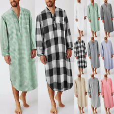 INCERUN Men Long Sleeve Pajamas Dressing Gown Nightwear Nightshirt Kaftan Tops