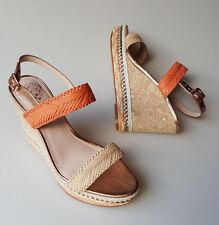 Vince Camuto shoes 7 M Tazma platform wedge heel sandals coral beige rose gold