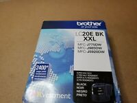 New Genuine OEM - Brother LC20E BK XXL Black Ink Cartridge - Exp 12/2022 (3260)