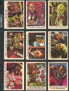 Topps 1959 YOU'LL DIE LAUGHING Complete 66 card set, VG-EX, Jack Davis art, NR