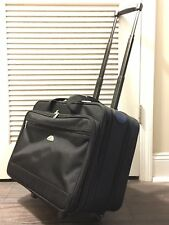 Samsonite Rolling Carry On Bag Laptop Luggage Briefcase Wheeled Nylon