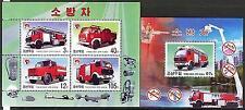 Korea 2004 Fire Trucks Engines Block +sheet of 4 MNH**
