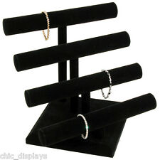4 TIER T-BAR VELVET BRACELET T-BAR  NECKLACE DISPLAY STAND BRACELET DISPLAY DEAL