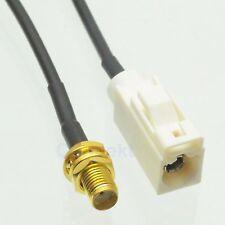 "Fakra SMB B 9001 female jack to SMA female 6"" RG174 pigtail cable Phantom radio"