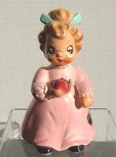 Josef Originals Lady Teacher Figurine ~ Apple with worm ~ Label ~ George Imports
