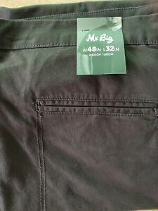 6XL {48 ] mr big plus jogger pants BLACK {rrp $45.00}