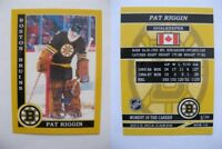 2015 SCA Pat Riggin Boston Bruins goalie never issued produced #d/10 super rare