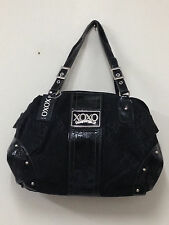 NEW! XOXO JILLY JACQUARD BLACK SATCHEL TOTE BAG PURSE $72 SALE