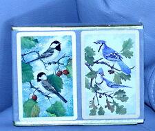 VINTAGE CONGRESS BIRDS PLAYING CARDS 2 DECKS w/storage case 52+ 2 JOKERS / DECK