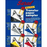 "Sally's by Saral Wax-Free Transfer Paper Sampler  - 8-1/2 X 12"" Sheets, 5 Colors"