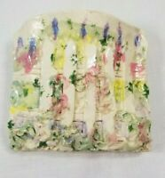 Vintage Country Wall Mount Pocket Vase Ceramic Handmade & Hand Painted