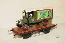 O gauge 7mm SCRATCH KITBUILT Flat Wagon Vintage Delivery Van Load Brass DECENT