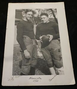 Minnesota Gophers Football 1931 Photo Fritz Crisler & Clarence Munn Michigan