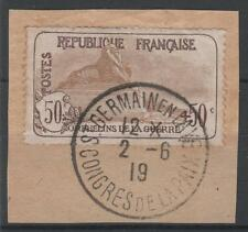 "FRANCE STAMP TIMBRE N° 153 "" ORPHELINS GUERRE 50c+50c LION"" OBLITERE A VOIR N533"